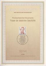 TIMBRE FDC ALLEMAGNE  BERLIN OBL ERSTTAGSBLATT EMMA IHRER SYNDICALISTE 1989