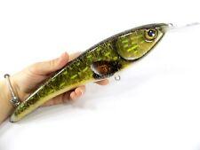 Electra Pike Musky Lures Mega Lures CrankBait Custom Wood Tackle Fishing