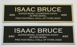 Isaac Bruce nameplate for signed jersey football helmet or photo