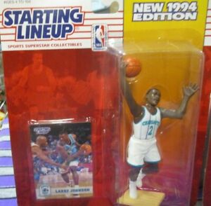 Starting Lineup 1994 NBA #2 Larry Johnson Charlotte Hornets  FREE SHIPPING