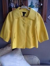 H&M yellow short linen jacket EUR 40