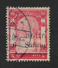 Thailand 1909-1910 Previous Issues Surcharged, 6/4 Sat/A, Used (Bx3)