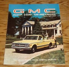 Original 1969 GMC Truck Pickup Stake Cab & Chassis Sales Brochure 69