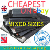 50 MIXED SIZES - 12 x 16 + 10 x 14 STRONG LARGE GREY POSTAL MAILING BAGS