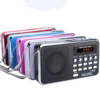 L-938 Portable Digital FM Radio TF Slot USB Mini Speaker Multicolor
