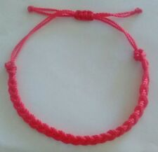 2 pink Braided Lucky  String Love  Adjustable Cancer awareness handmade bracelet