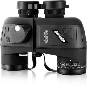 Aomekie Fernglas mit Nachtsicht Entfernungsmesser Kompass 10X50 Ferngläser
