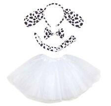 Dalmatiner KOSTÜM Mädchen Damen Verkleiden Fasching Karneval Dress Up 4 Teilig