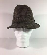 Pendleton Wool Tweed Plaid Fedora Bucket Hat Custom Made in USA Size Small