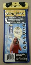 """DRYPAK Cell Phone Case 4"""" x 8"""" Yellow Blue - Never used -WATERPROOF - IT FLOATS!"""