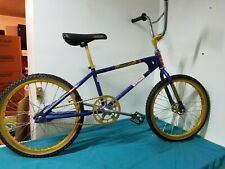 Vintage 1980 Mongoose Motomag Bmx Bike Bicycle Old School Blue Gold
