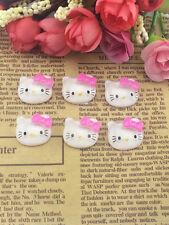 DIY 10pcs Pink Love Cat Resin Flatback Scrapbooking Phone Case Hair Bow NEW  ~~~