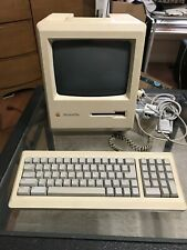Vintage Apple Macintosh Plus Desktop Computer - M0001A with Keyboard