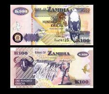 ZAMBIA 100 KWACHA 1992 YEAR P 38b UNC