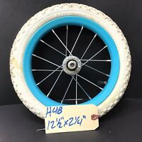 "Complete 12"" Front Bicycle Blue Wheel w/ Tire 12 1/2 X 2 1/4 Bike BMX #H48"