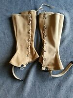 Original WWII WW2 US Army Military Canvas Boot Leggings Size 3, 1945