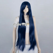 100CM Black Blue Neko Kuroha Straight Brynhildr in the darkness Cosplay Wig