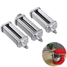 3PCS Pasta Roller Attachment For Kitchenaid Stand Mixer Stainless Steel Parts