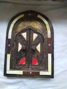 Handmade wall mirror metal,copper,Came Bone Moroccan Decor with doors hanging