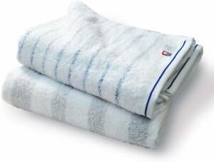 CYBERL Imabari Towel Bath Stripe; Set of 2 Blue and Gray br_i_00080