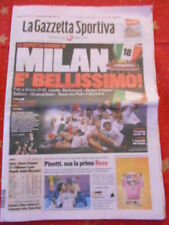 milan campione d'italia 2010/2011 - 18° scudetto - GAZZETTA DELLO SPORT