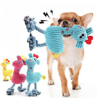 Pet Dog Puppy Chicken Chew Toy Squeaky Soft Plush Play Training Sound Toys UK