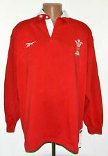 WALES 1998/1999/2000 RUGBY UNION SHIRT JERSEY REEBOK SIZE XL ADULT