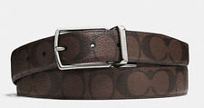 NEW COACH MODERN HARNESS CUT-TO-SIZE REVERSIBLE SIGNATURE COATED CANVAS BELT