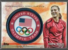 STUNNING RARE 2012 TOPPS OLYMPIC HOPE SOLO TEAM PATCH CARD ~ USA SOCCER LEGEND