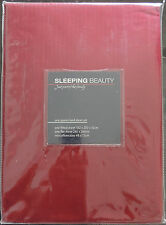 Red Sheet Set by Sleeping Beauty | 255TC | Made In Australia | Queen