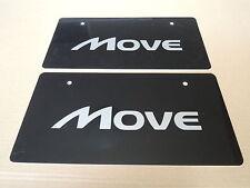 JDM DAIHATSU MOVE Original Dealer Showroom Display License Plates #1 Pair