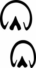 horse  track / footprint sticker /  hoof print decal
