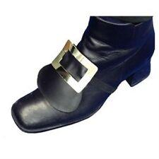 Nuevo Zapato falso Pirata Medieval período Vestido Santa Hebilla Fancy Dress p1483
