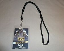 JUSTIN BIEBER BELIEVE TOUR VIP PASS & LANYARD MEET & GREET ALL ACCESS BACKSTAGE!