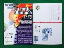 6141 Advertising Pubblicita' Cartolina Card 15x10 cm  TORINO 2006 NOTTE OLIMPICA