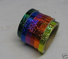 Any 6 colors, Glittering Vinyl Tapes, 1/2 inch x 25 ft
