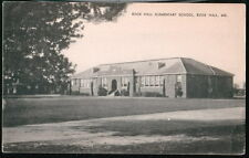ROCK HALL MD Elementary School Vintage B&W Postcard Early Old Maryland PC