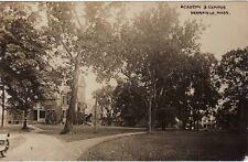 Antique REAL PHOTO POSTCARD c1914 Academy & Campus DEERFIELD, MA MASS. RPPC