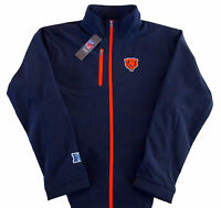 Chicago Bears G-III NFL Overtime Softshell Full Zip Jacket Blue Adult Sizes
