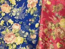 PHOENIX Satin Jacquard  ROSES Fabric BTY GOLD METALLIC Silky Floral Mum Chinese