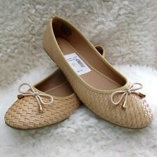 Bellissa Woven Ballerina Flats Beige w Memory Foam by Wanted  Womens Sz 10M  NEW