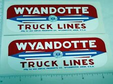 Wyandotte Truck Lines Side Panel Stickers        WY-012
