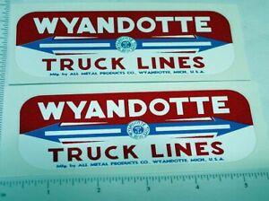 Wyandotte Truck Lines Side Panel Stickers        WY-012