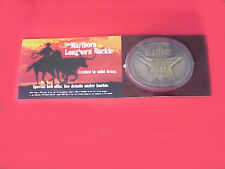 Marlboro Longhorn Solid Brass Belt Buckle New in Perfect Original Packaging !!