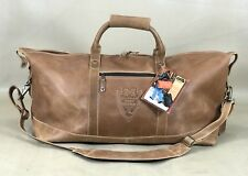 "Canyon Outback Little River Leather 22"" Carry On Duffel Bag Distressed Tan CS300"