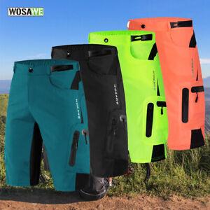 Mens Cycling Baggy Shorts MTB Mountain Bike Riding Casual Pants Summer Loose Fit