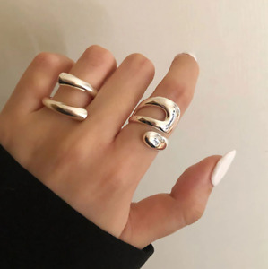 Genuine Silver, Handmade 'Squiggle' / 'Double' Ring // 925 Sterling Friendship