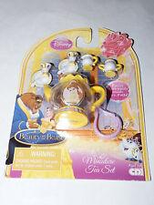 New Disney Beauty and the Beast Miniature Tea Set Includes Key Chain