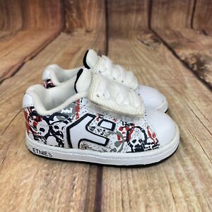 Ethnies Graphics Skull Skateboarding Shoes Toddler Size 5 T Athletic - Worn Once