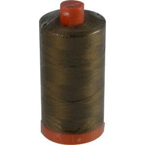 Aurifil Mako Cotton Thread Solid 50wt 1422yds  2372 Dark Antique Gold